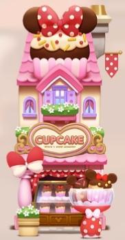 【ツムツムランド】ショップ【ミニーのカップケーキショップ】